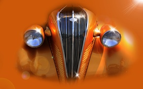 Picture abstraction, retro, lights, grille, Hudson Terraplane