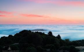 Picture clouds, sunset, mountain, photographer, Kenji Yamamura
