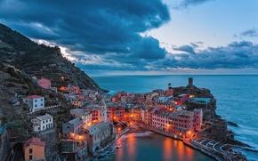 Picture coast, Italy, Vernazza