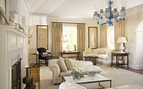 Picture room, interior, fireplace, living room, english country style
