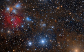 Picture nebula, Unicorn, in the constellation, reflecting, NGC2170