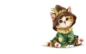 Picture art, costume, kitty, children's, brownie