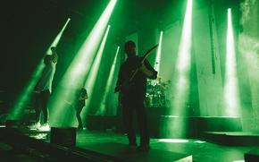 Picture scene, guitar, lighting, concert, metal, drums, rock, metalcore, speech, singer, parkway drive