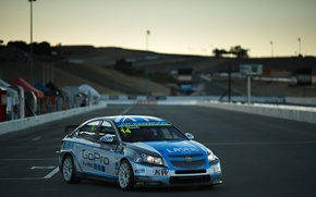 Wallpaper background, Wallpaper, track, the evening, Chevrolet, race, car, Cruze, WTCC, the world championship in touring ...