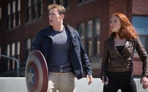 Picture Scarlett Johansson, Captain America, Natasha Romanoff, Chris Evans, Steve Rogers, The Winter Soldier