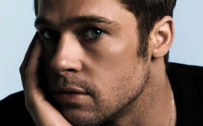 Wallpaper eyes, look, actor, male, Brad Pitt, Brad Pitt, grey, actor, grey, eyes, man