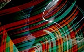 Picture rays, light, line, color, bending, Blik, track