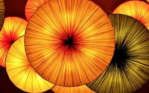 Picture light, lights, umbrella, lights, fabric