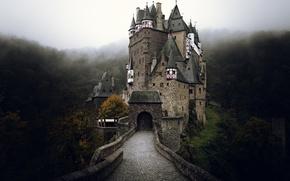 Picture autumn, fog, castle, Germany, ELTZ