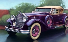 Picture Packard, Deluxe, machine. art, Eight Sport Phaeton