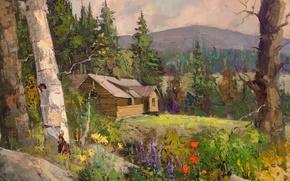 Picture art, Sean Wallis, Idaho Cabin Commision