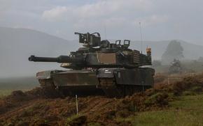 Picture field, tank, armor, Abrams, Abrams, M1A2