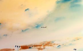 Wallpaper figure, feel good, the sky