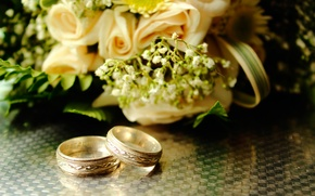Picture bouquet, ring, wedding
