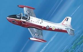 Picture art, painting, jet, BAC Jet Provost