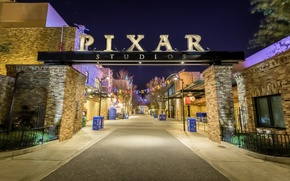 Wallpaper photo, photographer, Greg Stevenson, Pixar, entrance, studios