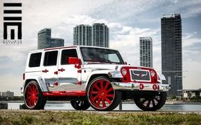 Picture Jeep Wrangler, Exclusive Motoring Worldwide, Forgiato Design, Chrome Edition