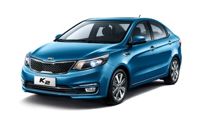Wallpaper Kia, Kia, background, sedan, Rio, Rio