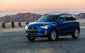 Picture photo, Blue, Mitsubishi, Car, 2015, Metallic, 2.4L, Sport GT