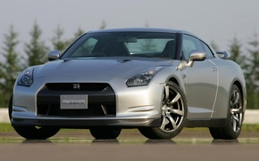 Picture silver, sportcar, R35, Nissan GTR