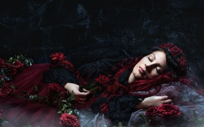 Wallpaper Sleeping, Dark, Beauty