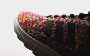Picture color, sneakers, laces, adidas ZX Flux, Multi Color