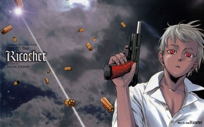 Picture weapons, anime, boy, art, Jon, jormungand