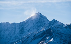 Picture Winter, Mountains, Russia, Chechnya, Terrible, Szara