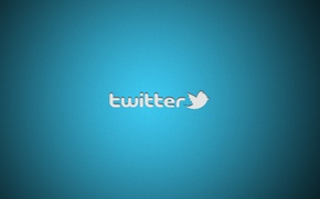 Picture minimalism, logo, logo, minimalism, 1920x1200, brand, twitter, brand, social network, social network