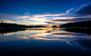 Picture forest, landscape, nature, lake, the evening