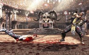 Picture battle, Scorpio, Mortal Kombat, Scorpion, Johnny Cage, Idoni Cage, Shao Kahn, Shao Kahn