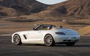 Picture auto, white, Roadster, Mercedes-Benz, Mercedes, AMG, SLS, Mercedes-Benz