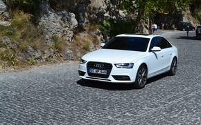 Picture mountains, Audi, car