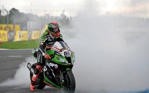 Picture Smoke, Kawasaki, slip, Moto, WSBK, Tom Sykes