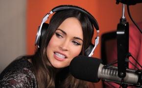 Picture Megan Fox, Megan Fox, Actress, Microphone, Megan Denise Fox, Model, Headphones, Fashion model, Megan Denise …