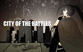 Picture girls, anime, city of the battles
