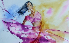 Picture style, background, picture, watercolor