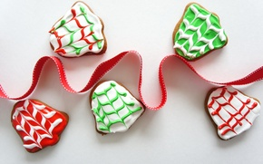 Picture food, New Year, cookies, Christmas, tape, Christmas, food, cakes, holidays, New Year, cookies, ribbon, Holidays, …