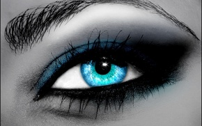 Picture eyes, blue, fotozhaba