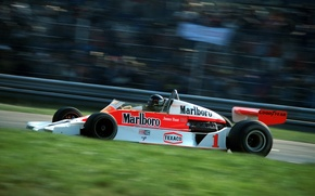 Picture speed, legend, Formula 1, 1977, James Hunt, McLaren M26, world champion, Monza, Italian Grand Prix, …
