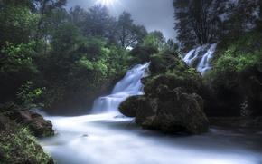 Picture France, waterfall, cascade, France, Cascade de Navacelles, Navacelles