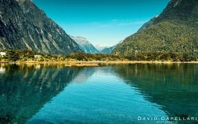 Picture landscape, mountains, nature, lake, New Zealand, David Capellari