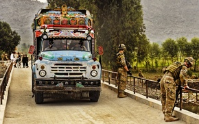 Picture Bridge, Military, Afghanistan, ZIL