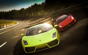 Picture Lamborghini, Ferrari, Red, Gallardo, Cars, 458, Green, Speed, Italia