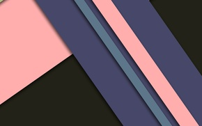 Picture line, pink, black, geometry, design, color, material