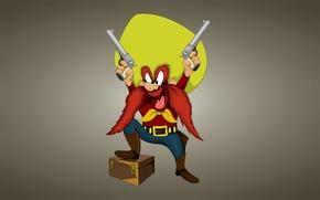 Picture hat, cowboy, chest, box, baleen, Unmanaged Sam, Looney Tunes, Yosemite Sam, Looney Tunes, Funny ringtones, …