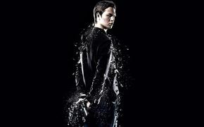 Picture The Divergent Series, Divergent 2, Insurgent, movie, Caleb, black, weapon, gun, actor, Ansel Elgort, film, ...