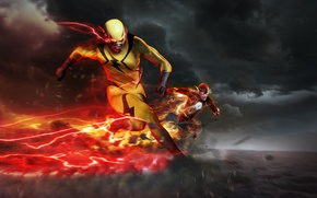 Picture speed, chase, the series, art, dc comics, Flash, Barry Allen, Reverse-Flash, Eobard Thawne