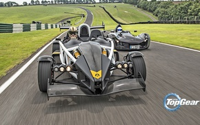 Picture Top Gear, Cars, Speed, Front, Day, Stig, Ariel Atom, Track, BAC Mono