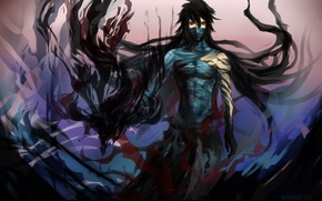 Picture anime, art, guy, bleach, Kurosaki Ichigo, bandages, nyamesiss, final getsuga tenshou